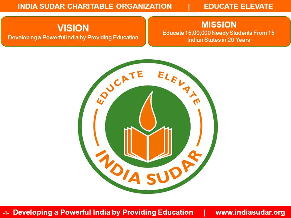 INDIA SUDAR CHARITABLE ORGANIZATION | EDUCATE ELEVATE -32- Developing a Powerful India by Providing Education | www.indiasudar.org India Sudar Volunteers Team (Example: Finance Team, Branding Team, India Sudar Funding Team, etc) Non Project Team Structure Non Project Team Guidelines: 1.The President is the top most leader and owner of the team.