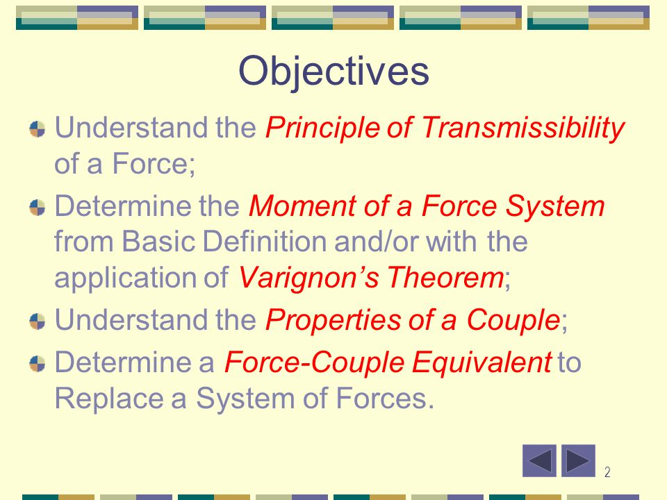 3 Introduction A force will cause motion along its direction.