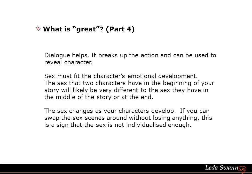 Dialogue helps. It breaks up the action and can be used to reveal character.