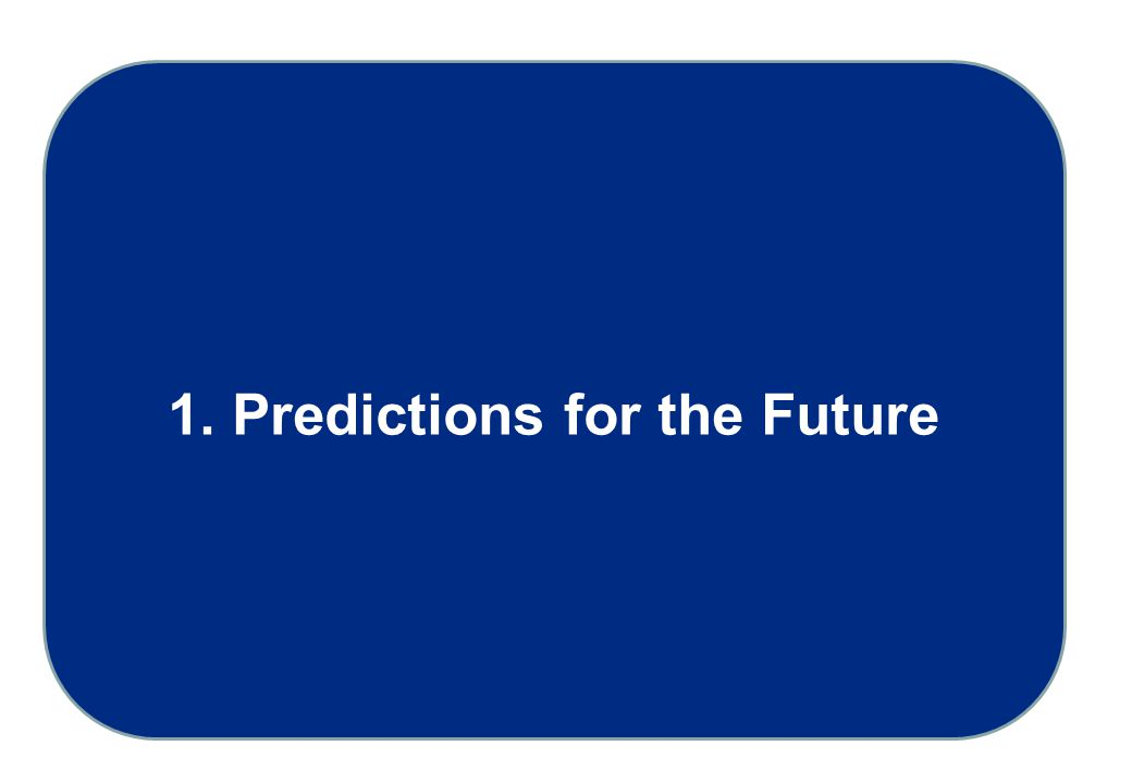 1. Predictions for the Future