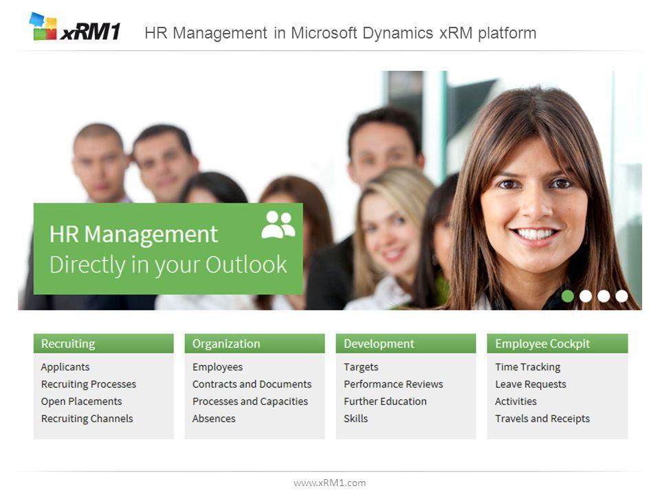 www.xRM1.com HR Management in Microsoft Dynamics xRM platform