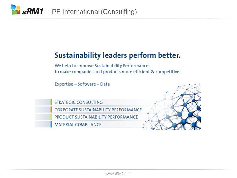 www.xRM1.com PE International (Consulting)