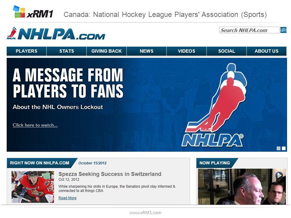 www.xRM1.com Canada: National Hockey League Players' Association (Sports)