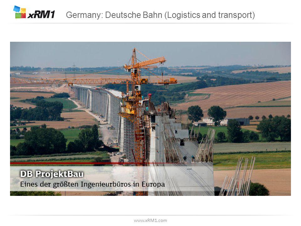 www.xRM1.com Germany: Deutsche Bahn (Logistics and transport)