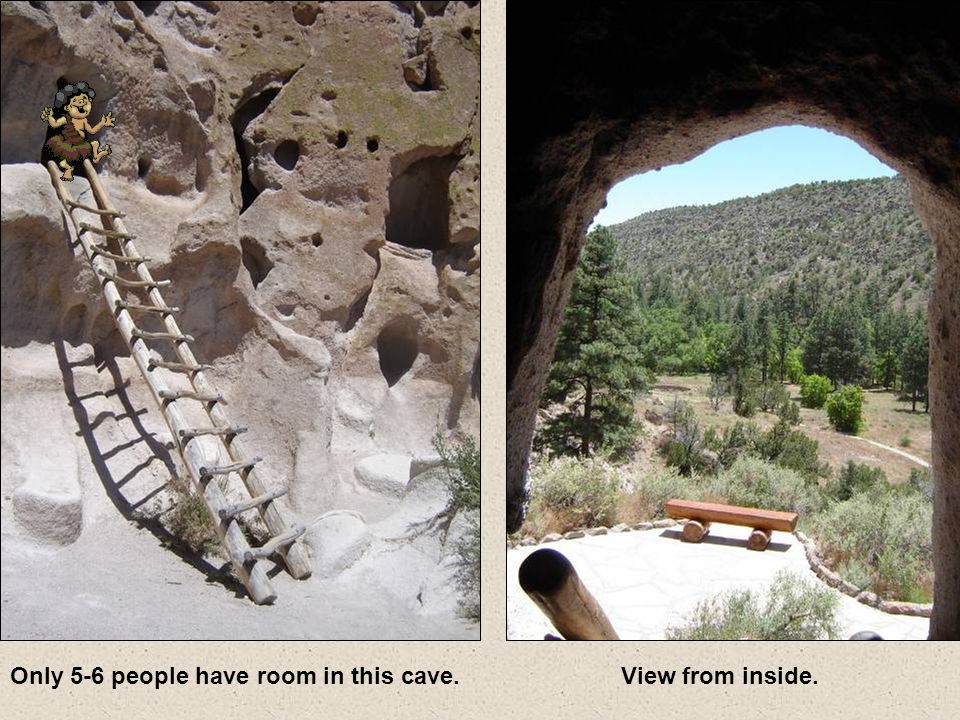 In many areas there are numerous small caves that were used as homes by the ancient Anasazi Indians.
