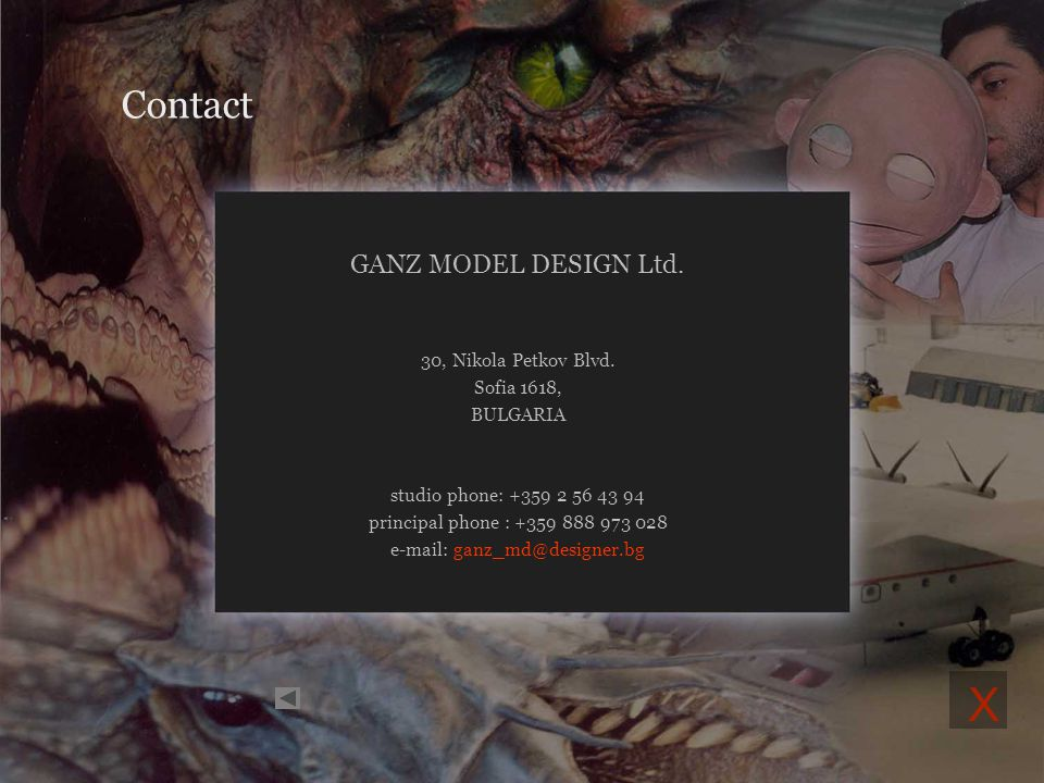 about us portfolio contact