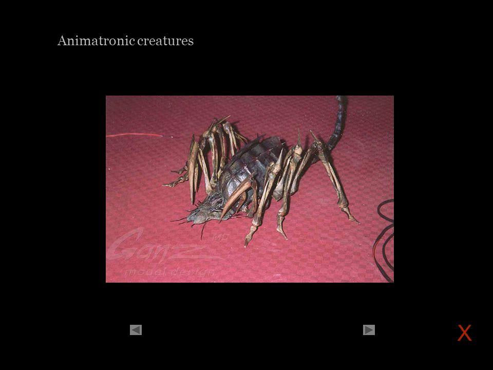 Animatronic creatures X