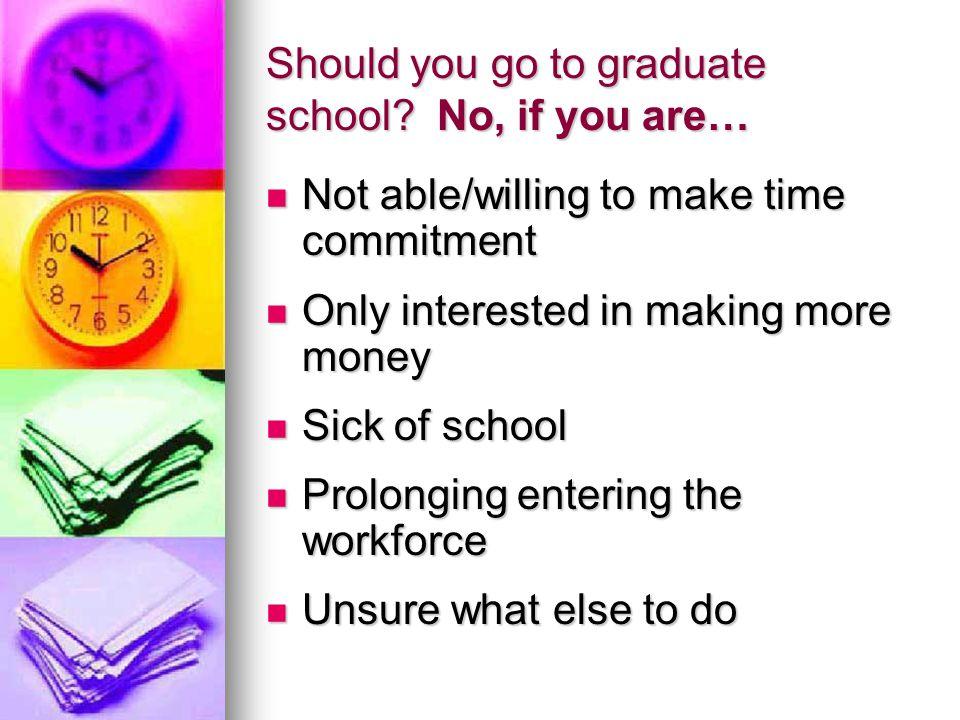 Should you go to graduate school.