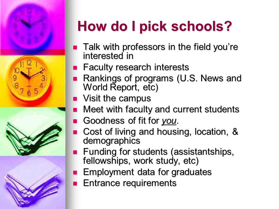 How do I pick schools.