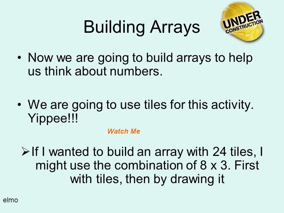 Using arrays can help us find all the factors for a given number. This array is 2 x 6. 2 rows, 6 columns. 12 total cookies. So we know that two of the