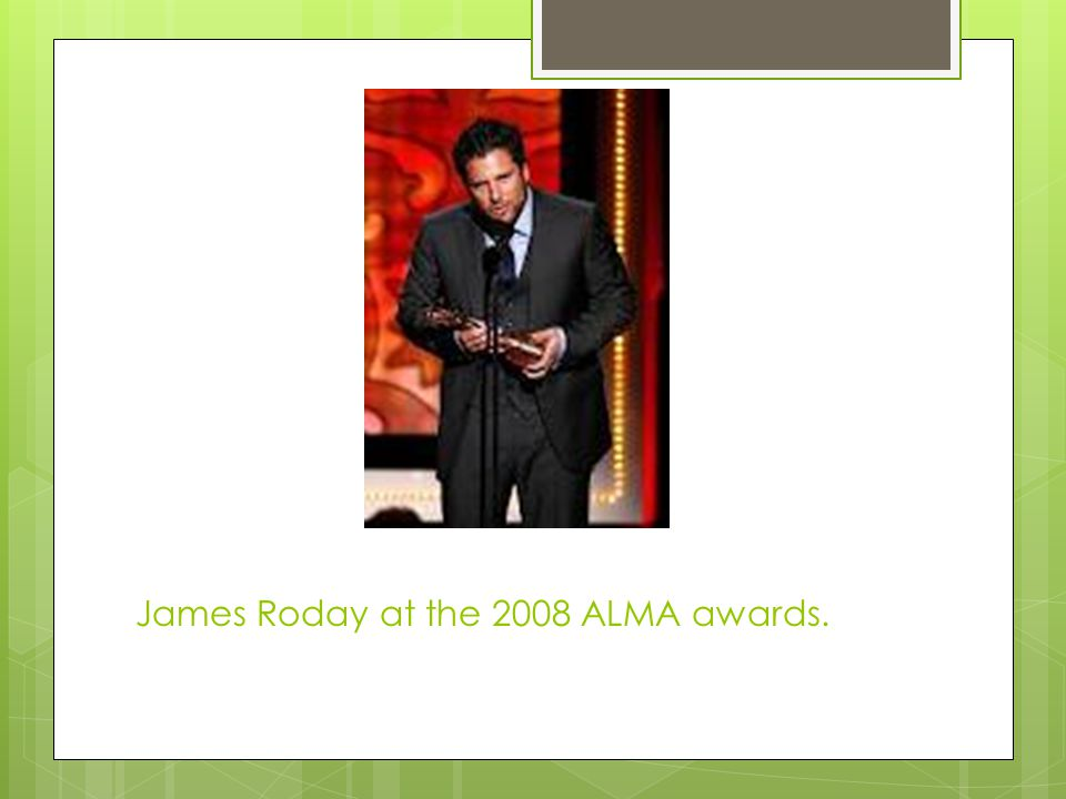 James Roday at the 2008 ALMA awards.