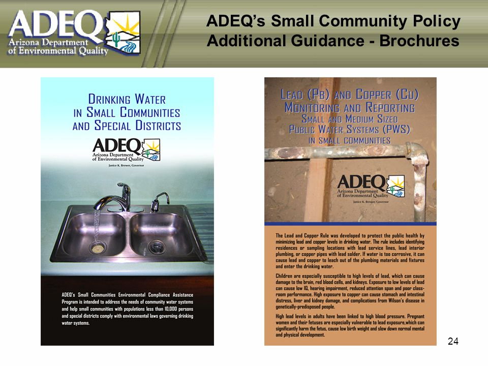24 ADEQs Small Community Policy Additional Guidance - Brochures