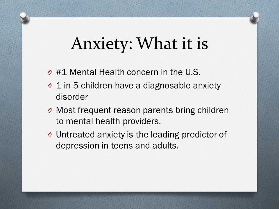 There is Hope.O Worry and Anxiety can and should be addressed.