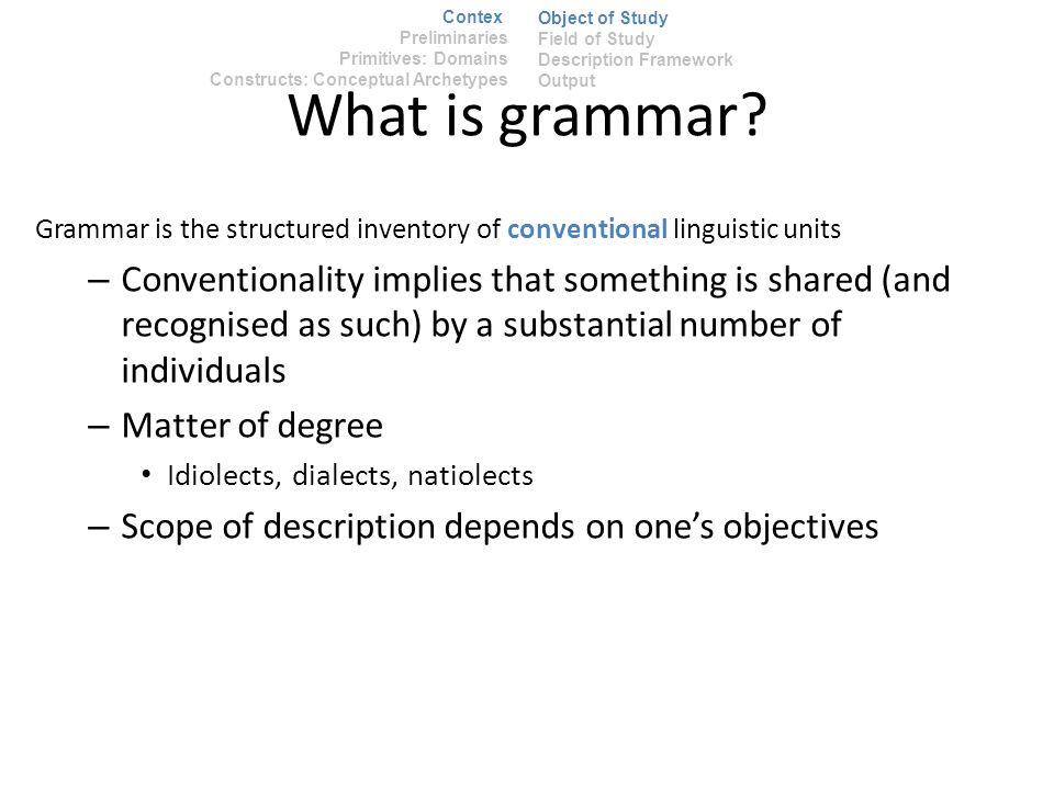 What is grammar.