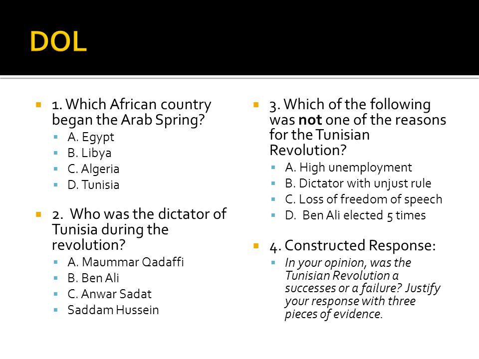 Was the Tunisian revolution successful?