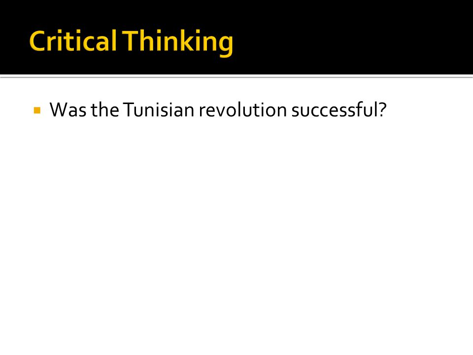 Was the Tunisian revolution successful