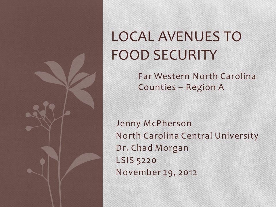 Jenny McPherson North Carolina Central University Dr.