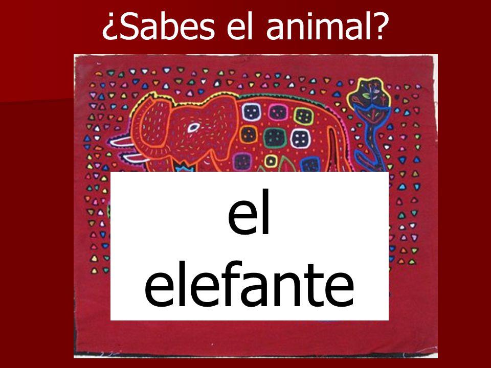 ¿Sabes el animal? el elefante