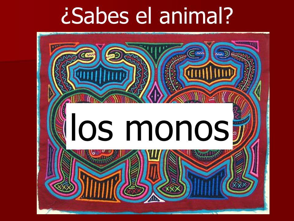 ¿Sabes el animal? los monos