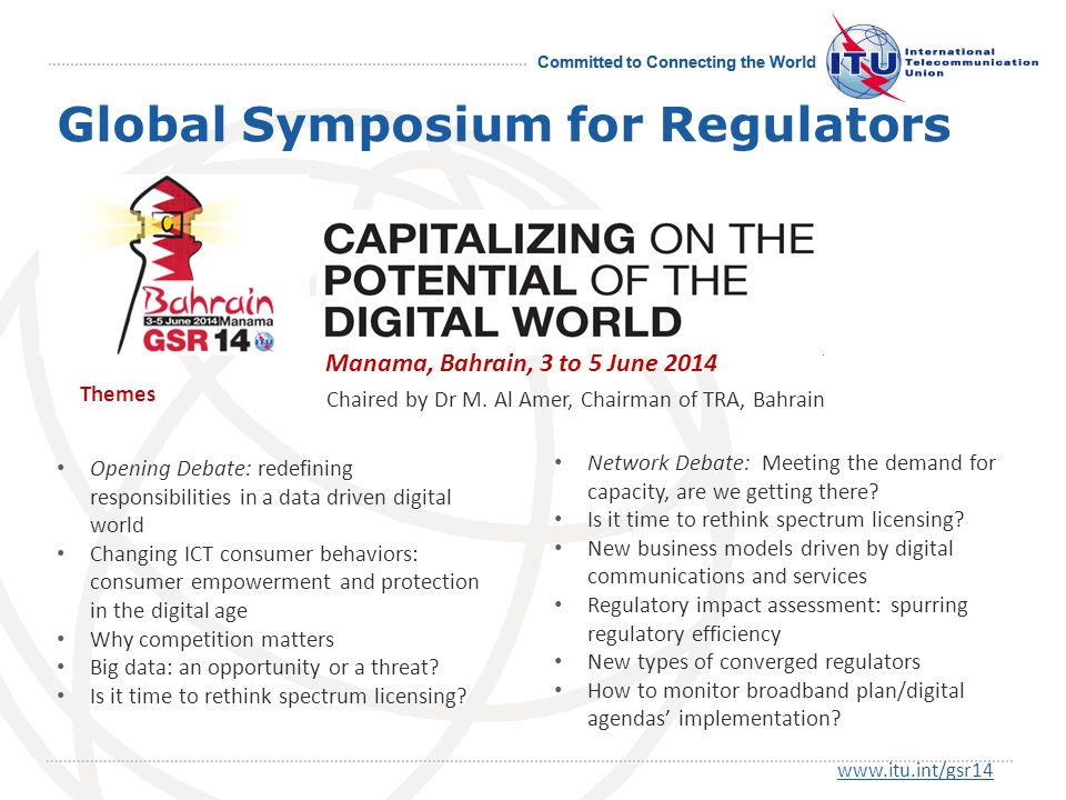 Committed to Connecting the World Opening Debate: redefining responsibilities in a data driven digital world Changing ICT consumer behaviors: consumer empowerment and protection in the digital age Why competition matters Big data: an opportunity or a threat.