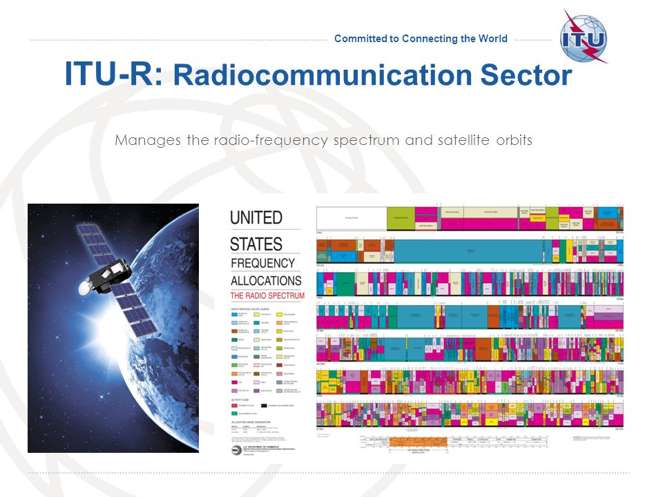 Committed to Connecting the World ITU-T: Standardization Sector Produces international standards covering all fields of telecommunications.