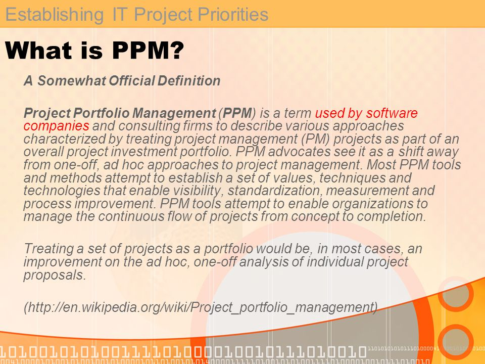 Establishing IT Project Priorities Conceptual Design - Business Analyst: Project Submission Form LogoutReports Home Project Submission FormPMO Tracking Tool Project Title: Project Description: Project Category: External Mandate?Yes:No: College / Capital Plan?Yes:No: Desired Delivery Date.