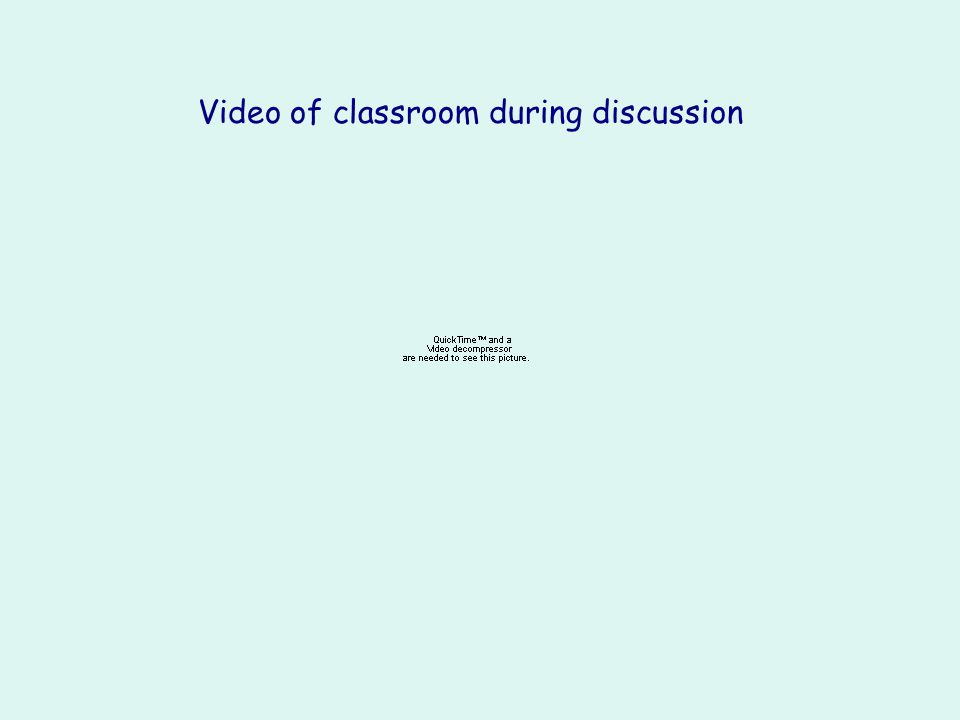 Video of classroom during discussion