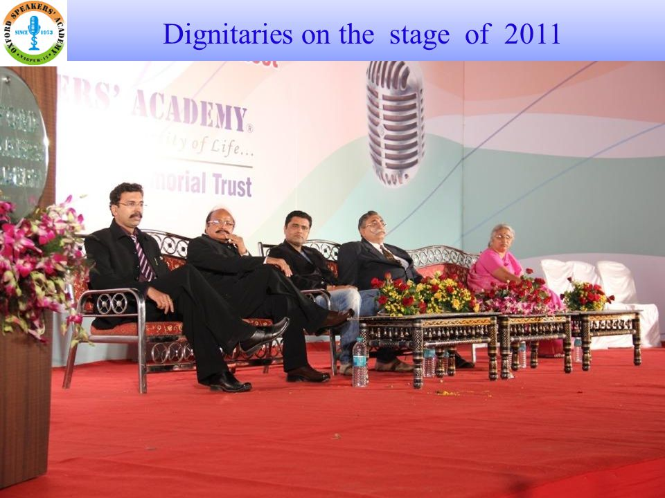 Dignitaries on the stage of 2011
