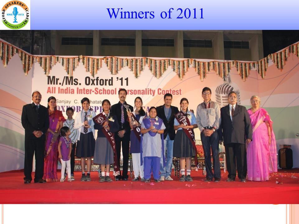 Winners of 2011