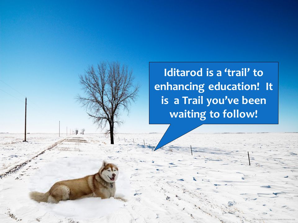 Iditarod is a trail to enhancing education! It is a Trail youve been waiting to follow!