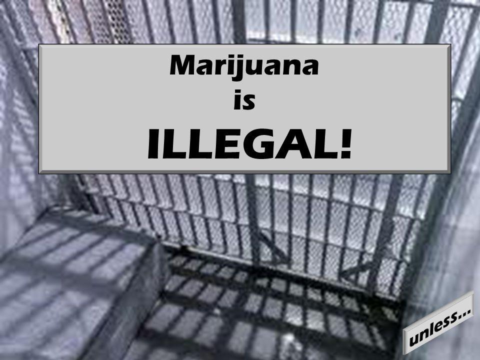 Marijuana is ILLEGAL!