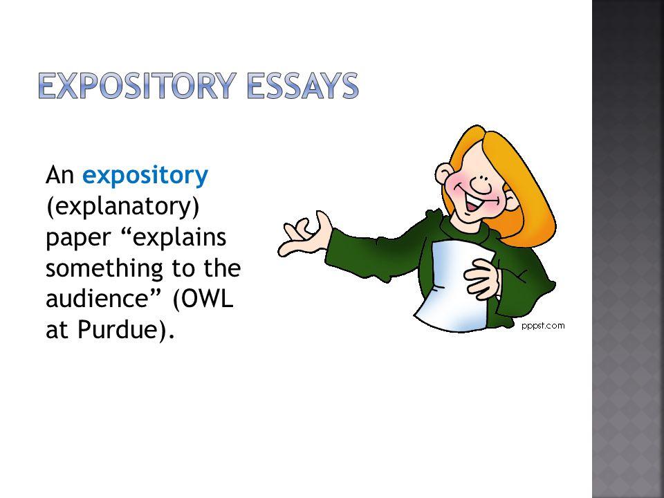 Expository essay owl