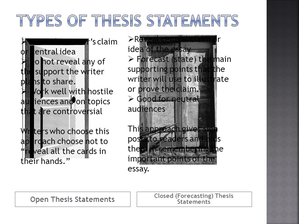 Where Should The Thesis Statement Be Placed