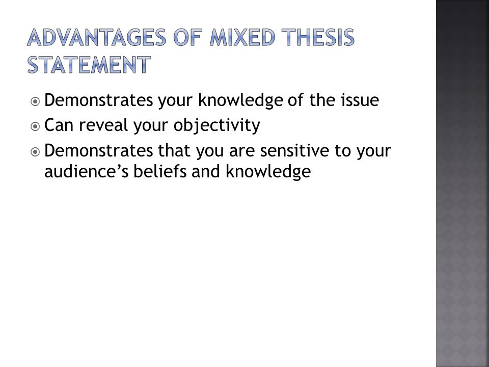 1) Determine your purpose 2) Examine your audience 3) Focus your topic 4) Form a research question 5) Conduct your research 6) Draft your thesis statement 7) Revise your statement