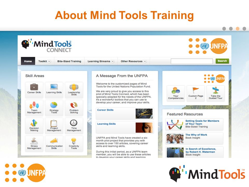About Mind Tools Training