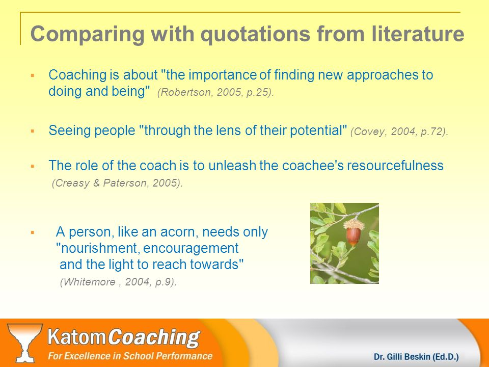 Summing up main ideas Telling- Asking continuum (Suggett,2006) Non-directive style Directive style passive leading, active Ask Tell Using structured Providing feedback Offering advice Directing questioning on observation actions (Gilpin, 2005) Different styles during coaching suit different people in different timings or circumstances.