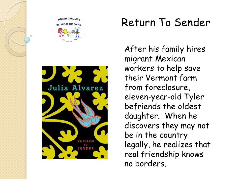 After his family hires migrant Mexican workers to help save their Vermont farm from foreclosure, eleven-year-old Tyler befriends the oldest daughter.