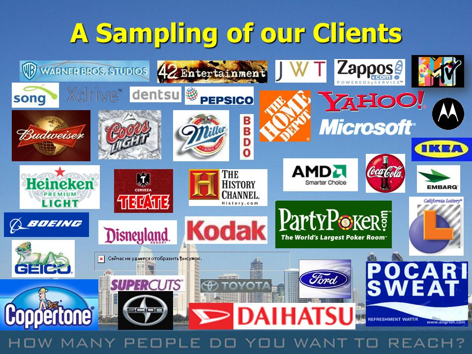 13 A Sampling of our Clients