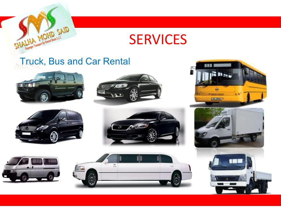 Truck, Bus and Car Rental SERVICES