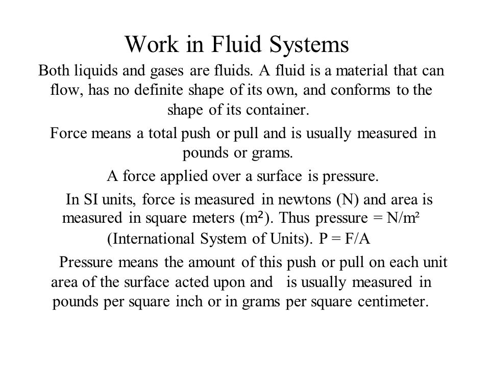 Understand volume of a gas in a cylinder.Be able to work with formulas: a.