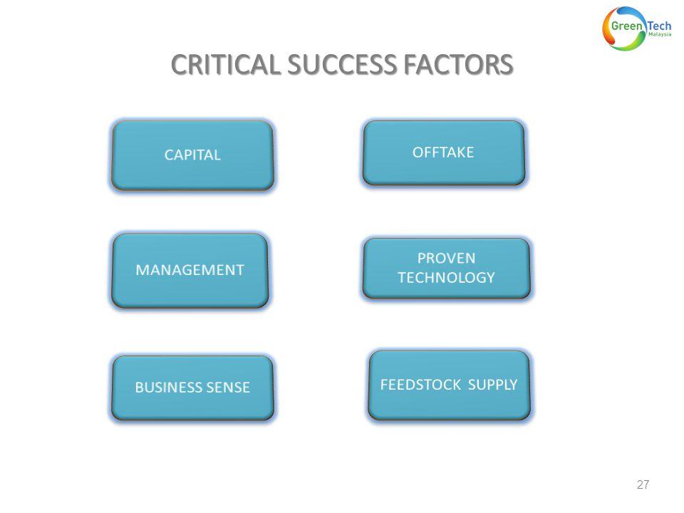 CRITICAL SUCCESS FACTORS 27