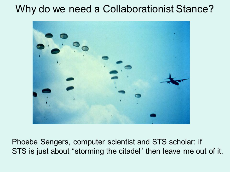 Why do we need a Collaborationist Stance.