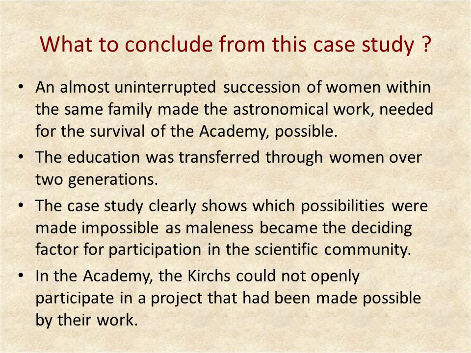 Gender as regulator The two production systems – the household and the working system in the Academy – were systematically intertwined.