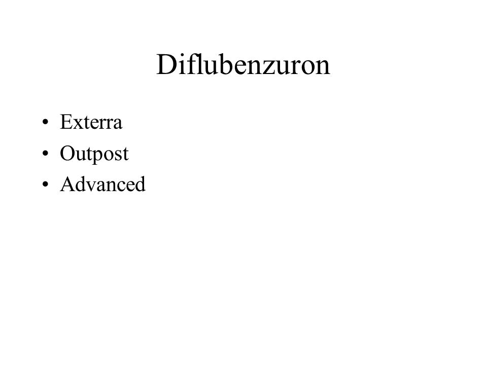 Diflubenzuron Exterra Outpost Advanced