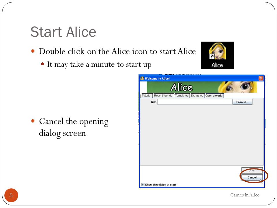 Build the Scene Games In Alice 6 Click on the add objects button at the bottom right of the scene Scroll to the Farm category and clock on Farm