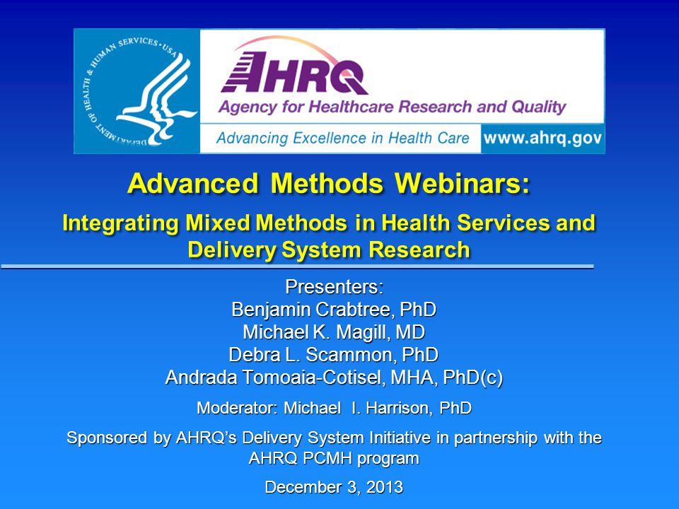 Mixed Methods in Health Sciences Sequential Exploratory Mixed Methods Design