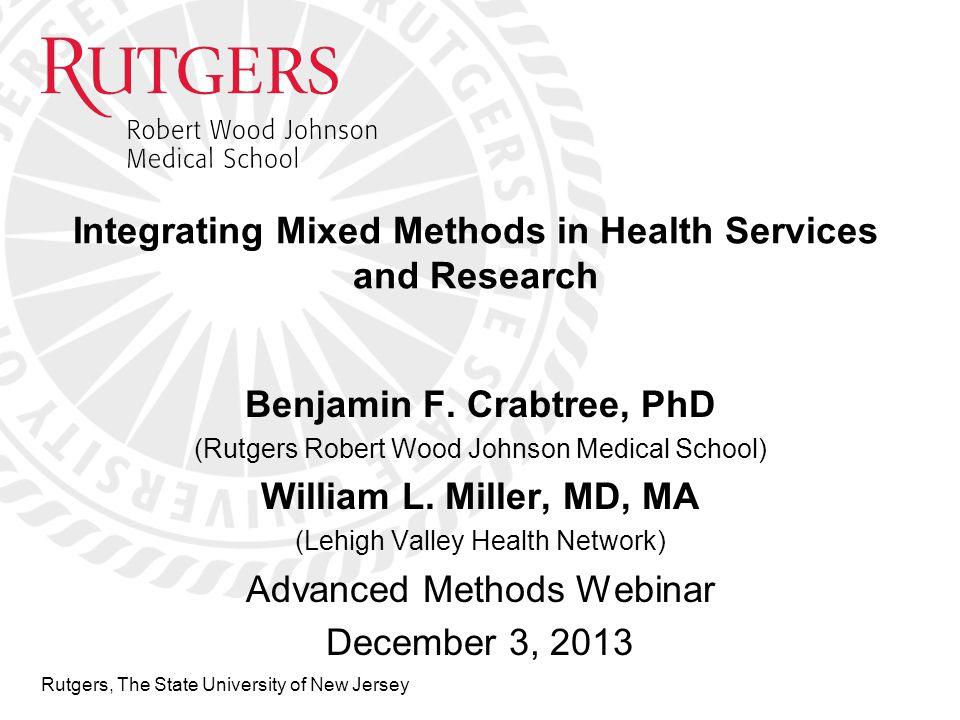 Mixed Methods in Health Sciences Convergent Mixed Methods Design