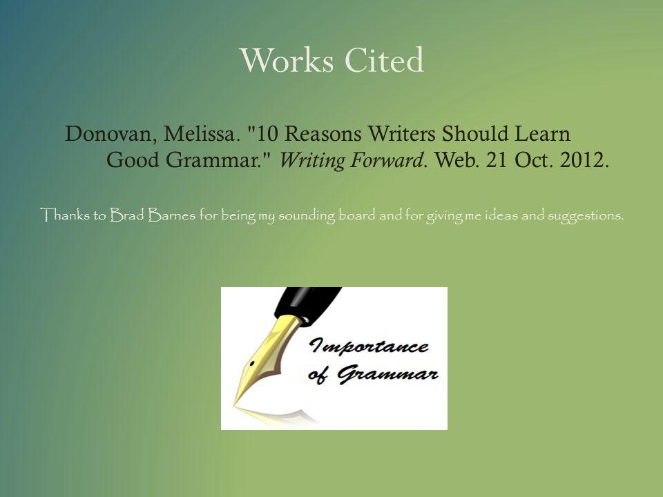 Works Cited Donovan, Melissa.