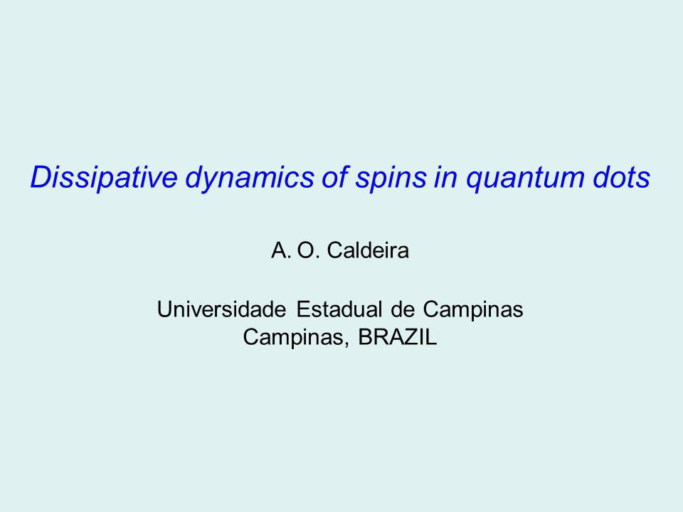 Microscopic dissipative spin dynamics x z y General expression for the microscopic spin dynamics: The Bloch-Redfield equation