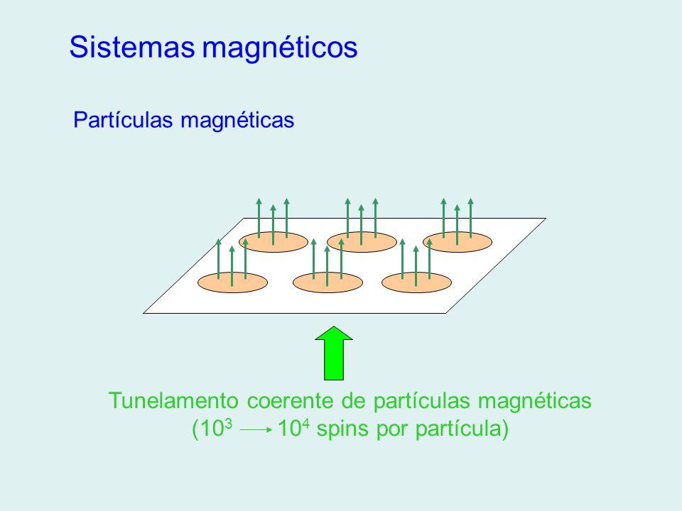Sistemas magnéticos Partículas magnéticas Tunelamento coerente de partículas magnéticas (10 3 10 4 spins por partícula)